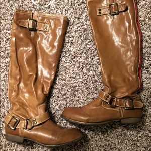 102682fc8c499 Women s Red Zipper Riding Boots on Poshmark